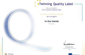 Etwinning Quality label IN OUR HANDS